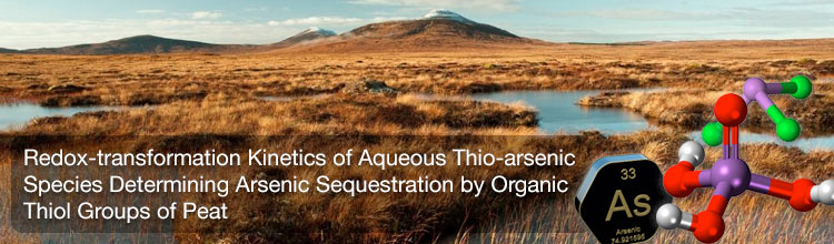 Redox-transformation Kinetics of Aqueous Thio-arsenic Species Determining Arsenic Sequestration by Organic Thiol Groups of Peat