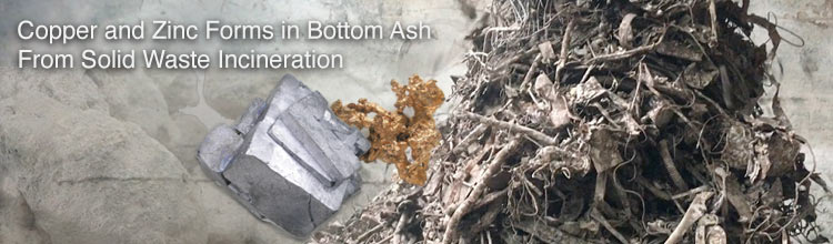 Copper and Zinc Forms in Bottom Ash from Solid Waste Incineration