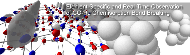 Element-Specific and Real-Time Observation of CO-Ru Chemisorption Bond Breaking with Soft X-ray Spectroscopy