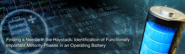 Identification of Functionally Important Minority Phases in an Operating Battery