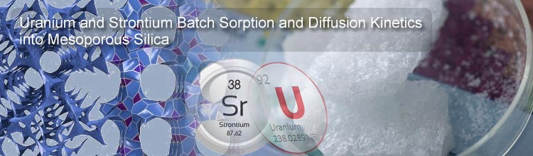 Uranium and Strontium Batch Sorption and Diffusion Kinetics into Mesoporous Silica