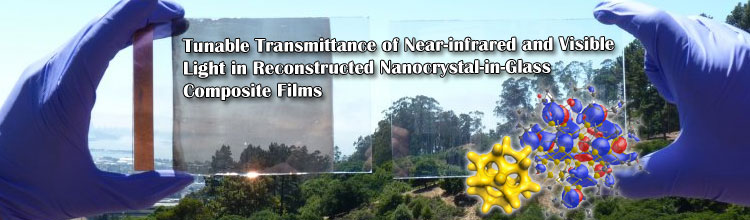 Tunable Transmittance of Near-infrared and Visible Light in Reconstructed Nanocrystal-in-Glass Composite Films