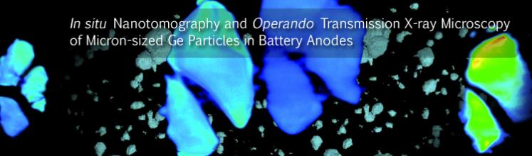 In situ Nanotomography and Operando Transmission X-ray Microscopy of Micron-sized Ge Particles in Battery Anodes