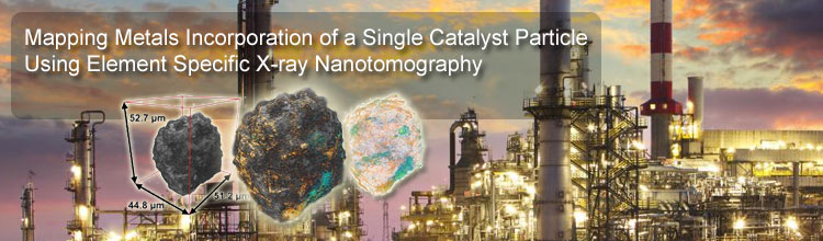 Mapping Metals Incorporation of a Single Catalyst Particle Using Element Specific X-ray Nanotomography