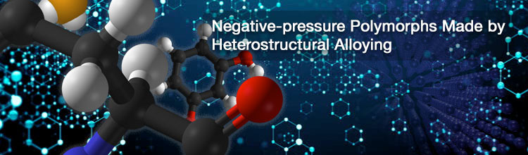 Negative-pressure Polymorphs Made by Heterostructural Alloying