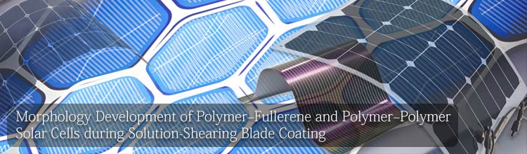 Polymer–Polymer Solar Cells during Solution-Shearing Blade Coating