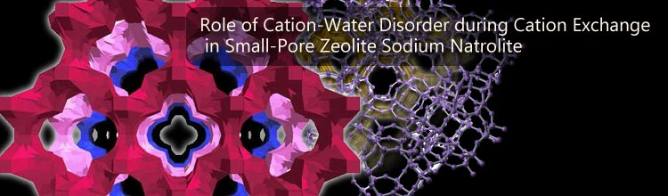 Role of Cation-Water Disorder during Cation Exchange in Small-Pore Zeolite Sodium Natrolite