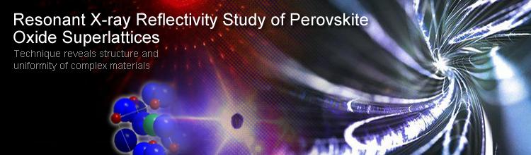Resonant X-ray Reflectivity Study of Perovskite Oxide Superlattices