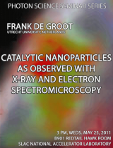 Catalytic nanoparticles as observed with x-ray and electron spectromicroscopy