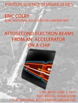 Attosecond Electron Beams from an Accelerator on a Chip