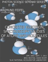 Concerted electron spectroscopy studies of atoms and molecules