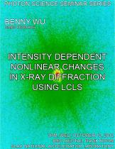 Intensity Dependent Nonlinear Changes in X-ray Diffraction using LCLS