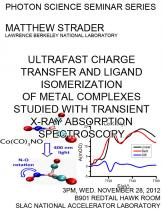 Ultrafast Charge Transfer and Ligand Isomerization of Metal Complexes Studied With Transient X-ray Absorption Spectroscopy