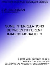 Some Interrelations Between Different Imaging Modalities