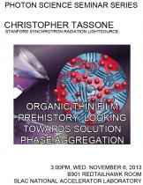 Organic thin film prehistory: looking towards solution phase aggregation