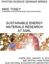 Sustainable Energy Materials Research at SSRL