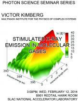 Stimulated x-ray emission in molecular gases