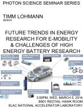 Future Trends in Energy Research for e-Mobility & Challenges of High Energy Battery Research