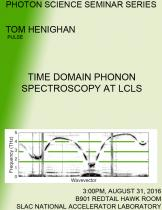 Time Domain Phonon Spectroscopy at LCLS