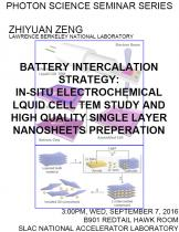 Battery intercalation strategy: in-situ electrochemical liquid cell TEM study and high quality single layer nanosheets preparation