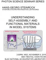 Understanding Self-assembly and Functional Materials in Model Systems