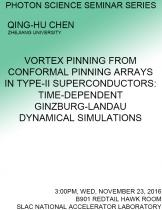 Vortex pinning from conformal pinning arrays in type-II superconductors: Time-dependent Ginzburg-Landau dynamical simulations