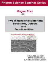Two-dimensional Materials: Structures, Defects and Functionalities
