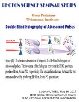 Double Blind Holography of Attosecond Pulses