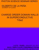 Bonus Thursday Seminar: Charge Order Domain Walls in Superconductive TiSe2