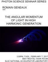The angular momentum of light in High Harmonic Generation