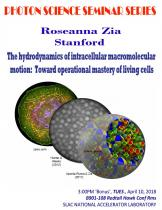 The hydrodynamics of intracellular macromolecular motion:  Toward operational mastery of living cells