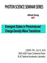 Emergent States in Photoinduced Charge-Density-Wave Transitions