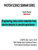Engineering redox-active materials from electrocatalysis to pseudocapacitance