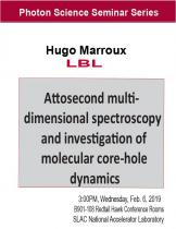 Attosecond multidimensional spectroscopy and investigation of molecular core-hole dynamics