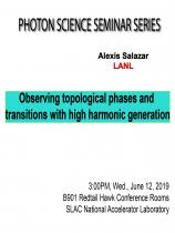 Observing topological phases and transitions with high harmonic generation