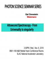 Attosecond Spectroscopy- From Universality to singularity