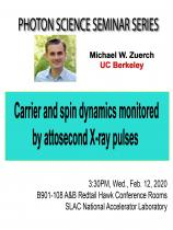 Carrier and spin dynamics monitored by attosecond X-ray pulses