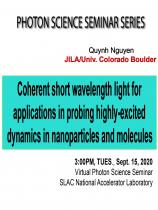 Coherent short wavelength light for applications in probing highly-excited dynamics   in nanoparticles and molecules