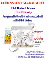 Adsorption and Self-Assembly of Surfactants at Air-Liquid and Liquid-Solid Interfaces