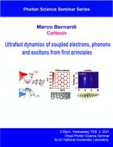 Ultrafast dynamics of coupled electrons, phonons and excitons from first principles