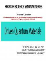 Driven Quantum Materials