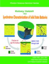 Synchrotron Characterization of Solid State Batteries