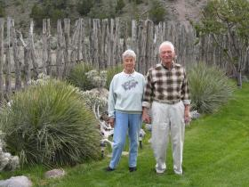 Farrel and Manetta at home in Eagle Valley, Nevada.